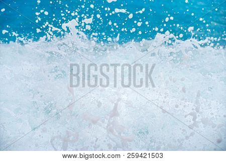 Close Up Of Ocean Wave For Backgrounds