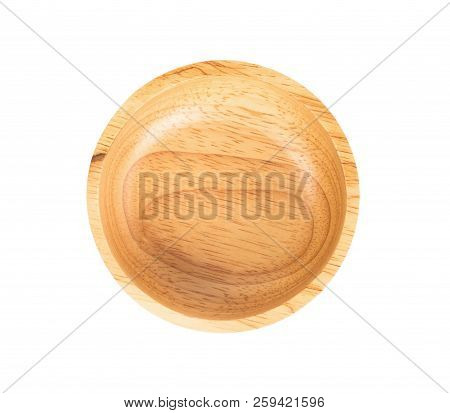 Top View Empty Bowl Isolated On White Background
