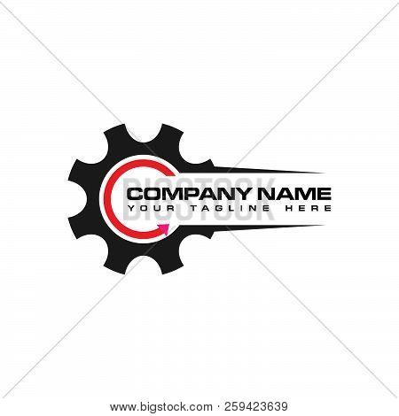 Logo Gear, Motor Sport Logo, Logo Workshop. Dealer Logo, Logo Truck, Mechanical Logo