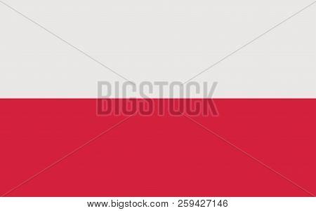 Poland flag. Polish national official colors. Correct proportion. Vector illustration poster