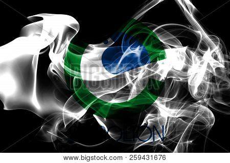 Carrollton City Smoke Flag, Texas  State, United States Of America