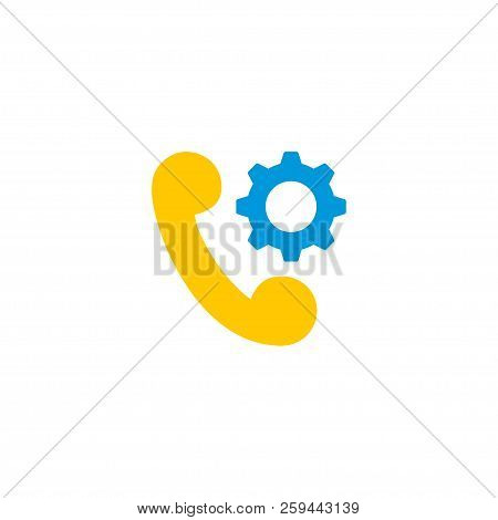 Tech Support Icon Flat Element.  Illustration Of Tech Support Icon Flat Isolated On Clean Background