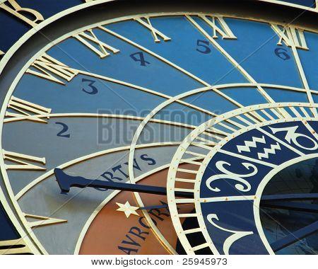 Detail of astronomical clock in Prague, Czech republic