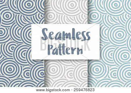Abstract Seamless Circles In Pastel Colors For