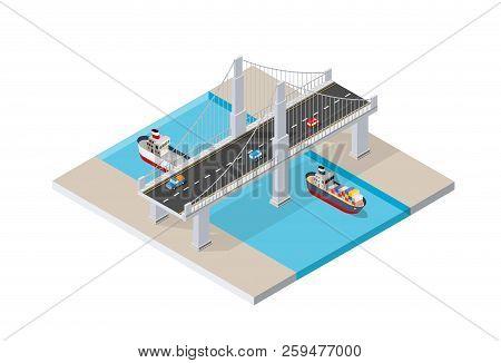 The Bridge Skyway Of Urban Infrastructure Is