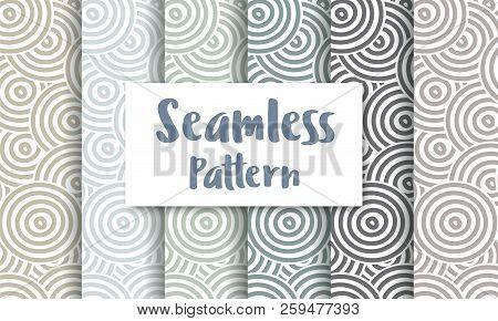Seamless Circles Abstract Pattern Repeating Tiles Backdrop