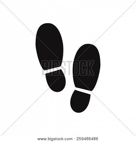 Footsteps Icon Isolated On White Background. Footsteps Icon In Trendy Design Style. Footsteps Vector