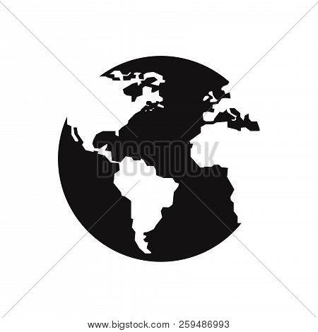 Earth Globe Icon Isolated On White Background. Earth Globe Icon In Trendy Design Style. Earth Globe