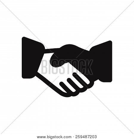 Business Handshake Icon Isolated On White Background. Business Handshake Icon In Trendy Design Style