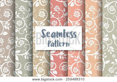 Seamless Floral Pattern Repeating Tiles Backdrop Background