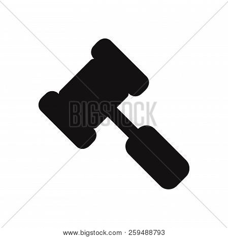 Legal Hammer Icon Isolated On White Background. Legal Hammer Icon In Trendy Design Style. Legal Hamm