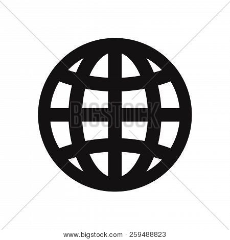 Web Globe Icon Isolated On White Background. Web Globe Icon In Trendy Design Style. Web Globe Vector
