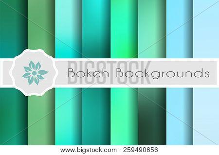 Bokeh Backgrounds Set Of Decorative Backdrops For