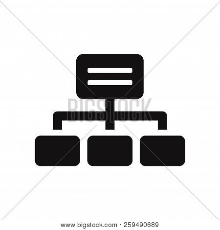 Hierarchical Structure Icon Isolated On White Background. Hierarchical Structure Icon In Trendy Desi