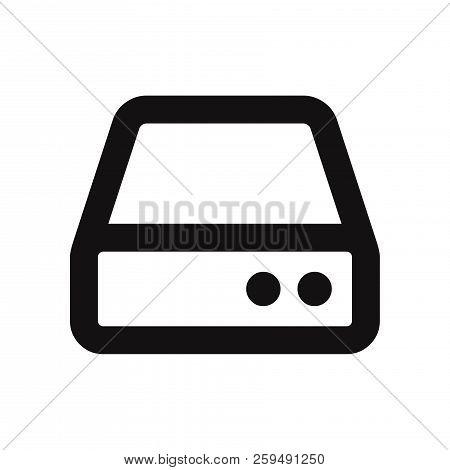 Hard Drive Icon Isolated On White Background. Hard Drive Icon In Trendy Design Style. Hard Drive Vec