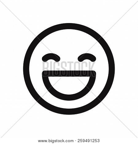 Happy Smile Icon Isolated On White Background. Happy Smile Icon In Trendy Design Style. Happy Smile