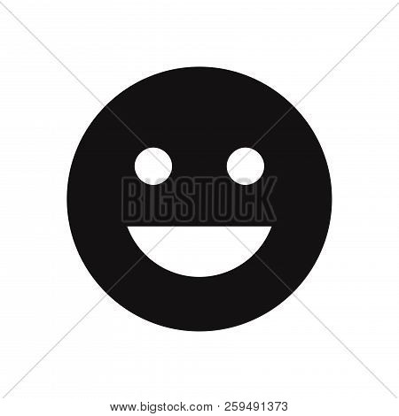 Good Mood Emoticon Icon Isolated On White Background. Good Mood Emoticon Icon In Trendy Design Style