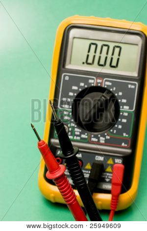 digital multimeter probes used for electronic measurement and testing