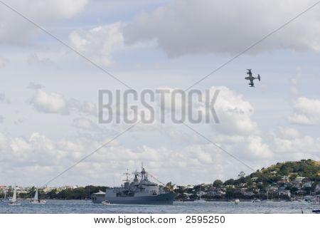 Anzac Class Frigate Under Attack
