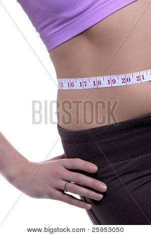 A Beautiful Young Woman With A Slim Waist
