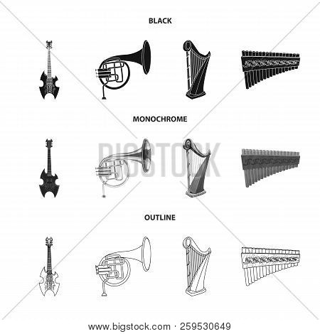 Vector Illustration Of Music And Tune Icon. Collection Of Music And Tool Stock Vector Illustration.