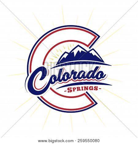Colorado Springs Design Template. Vector And Illustration.
