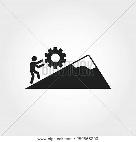 Persistence Icon. Monochrome Element Illustration. Persistence Symbol Design From Soft Skills Collec