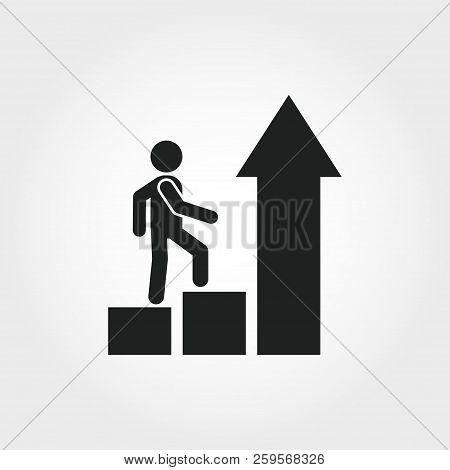 Growth Mindset Icon. Monochrome Element Illustration. Growth Mindset Symbol Design From Soft Skills
