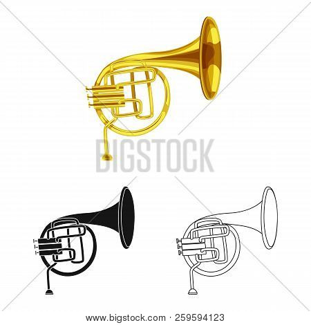 Vector Illustration Of Music And Tune Symbol. Set Of Music And Tool Stock Symbol For Web.