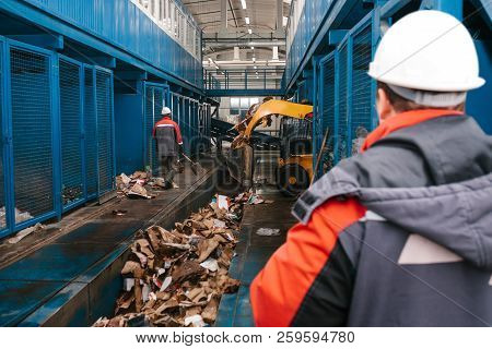 Waste Processing Plant. Technological Process For Acceptance, Storage, Sorting And Further Processin