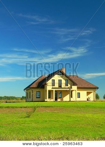 A beautiful new house (portrait)
