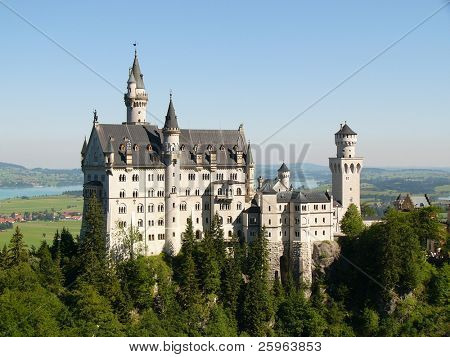 Neuschwanstein Castle in Germany, built by/for