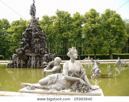 Fountain by Herrenchimsee castle