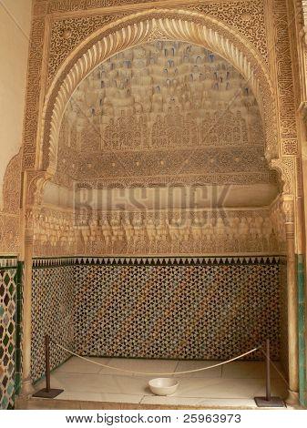 Inside Alhambra's Nazrides palace poster