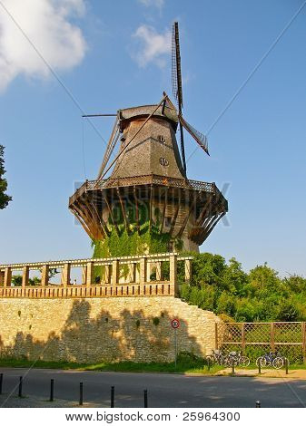 Windmill in Potsdam by Sans Souci, Berlin, German.