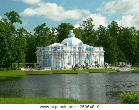 Pond by Yekaterinksy palace in Tsarskoe selo, Russia