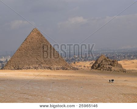 Pyramid in Giza by Cairo, Egypt, Africa
