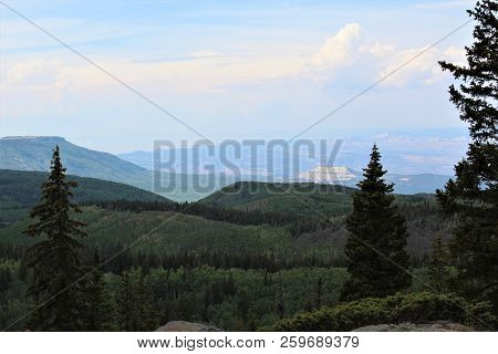 From An Overlook Atop Grand Mesa, In Colorado, You Can See For Miles And Miles.