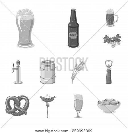 Vector Design Of Pub And Bar Icon. Set Of Pub And Interior Stock Symbol For Web.