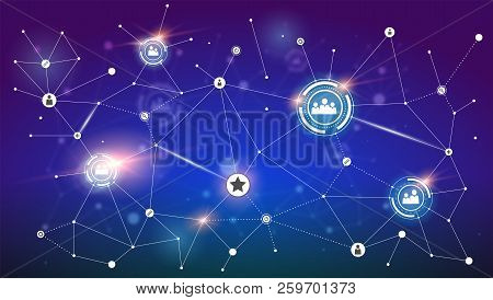 Social Media Network. Concept Of Communication Technology, Engineering Of Social Networking. Concept