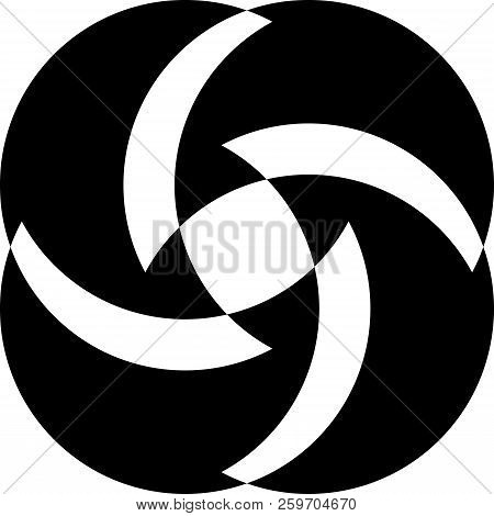 Abstract Arabesque Fan Spinder Design Black On Transparent Background