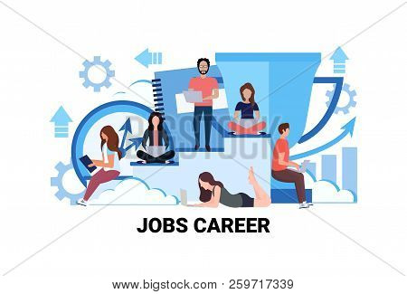 Business People Office Coworkers Teamwork Jobs Career Concept Successful Working Strategy Man Woman