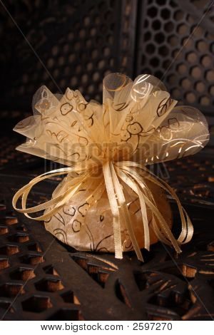 Golden Favour With Ribbon