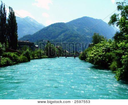 Glacier River In Interlaken