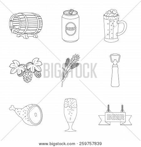 Vector Design Of Pub And Bar Sign. Set Of Pub And Interior Stock Symbol For Web.