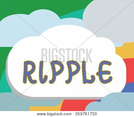 Text Sign Showing Ripple. Conceptual Photo Small Wave Or Series Of Them Surface Of Water Caused Slig
