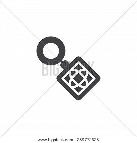 Key Ring Vector Icon. Filled Flat Sign For Mobile Concept And Web Design. Keyring Simple Solid Icon.