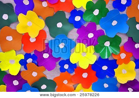 Colored paper flowers