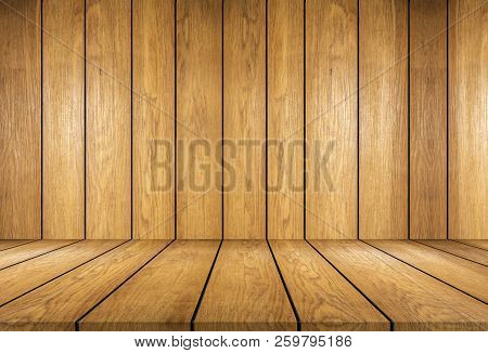 Wooden Board And Wooden Wallpaper Background ,this Is Table Top Empty Look Like Wooden Room ,this Im