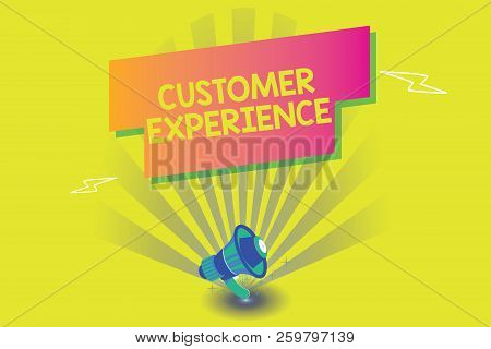 Word Writing Text Customer Experience. Business Concept For Interaction Between Satisfied Customer A